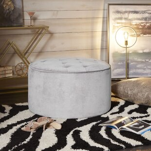 Jeb Large Round Tufted Cocktail Ottoman by Rosdorf Park