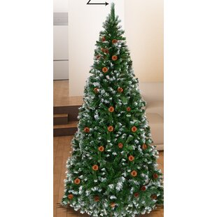 Snow Tipped 7 Green Pine Artificial Christmas Tree
