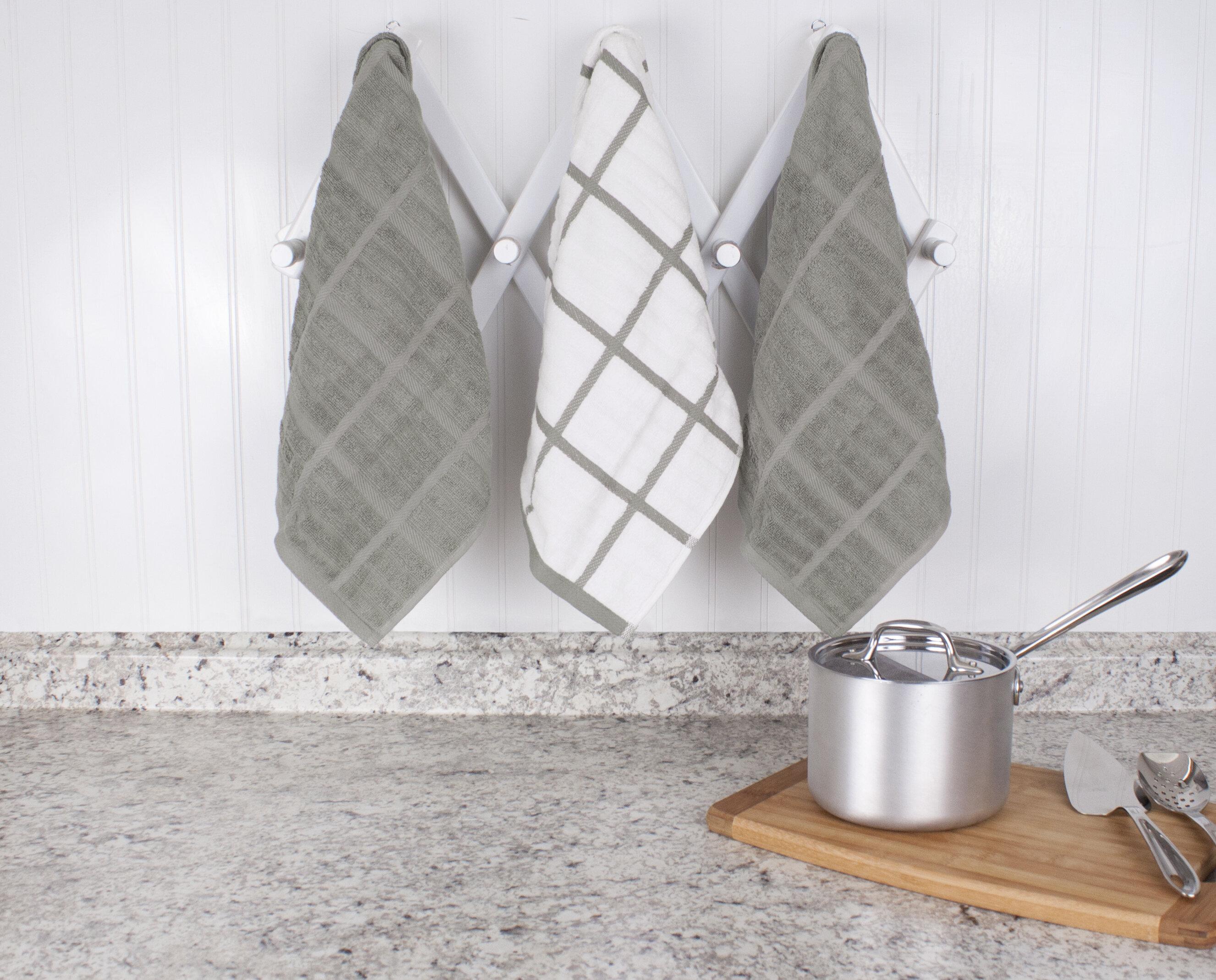 All Clad Check Woven Tea Towel