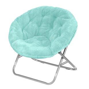 Giles Faux-Fur Papasan Chair By Ebern Designs
