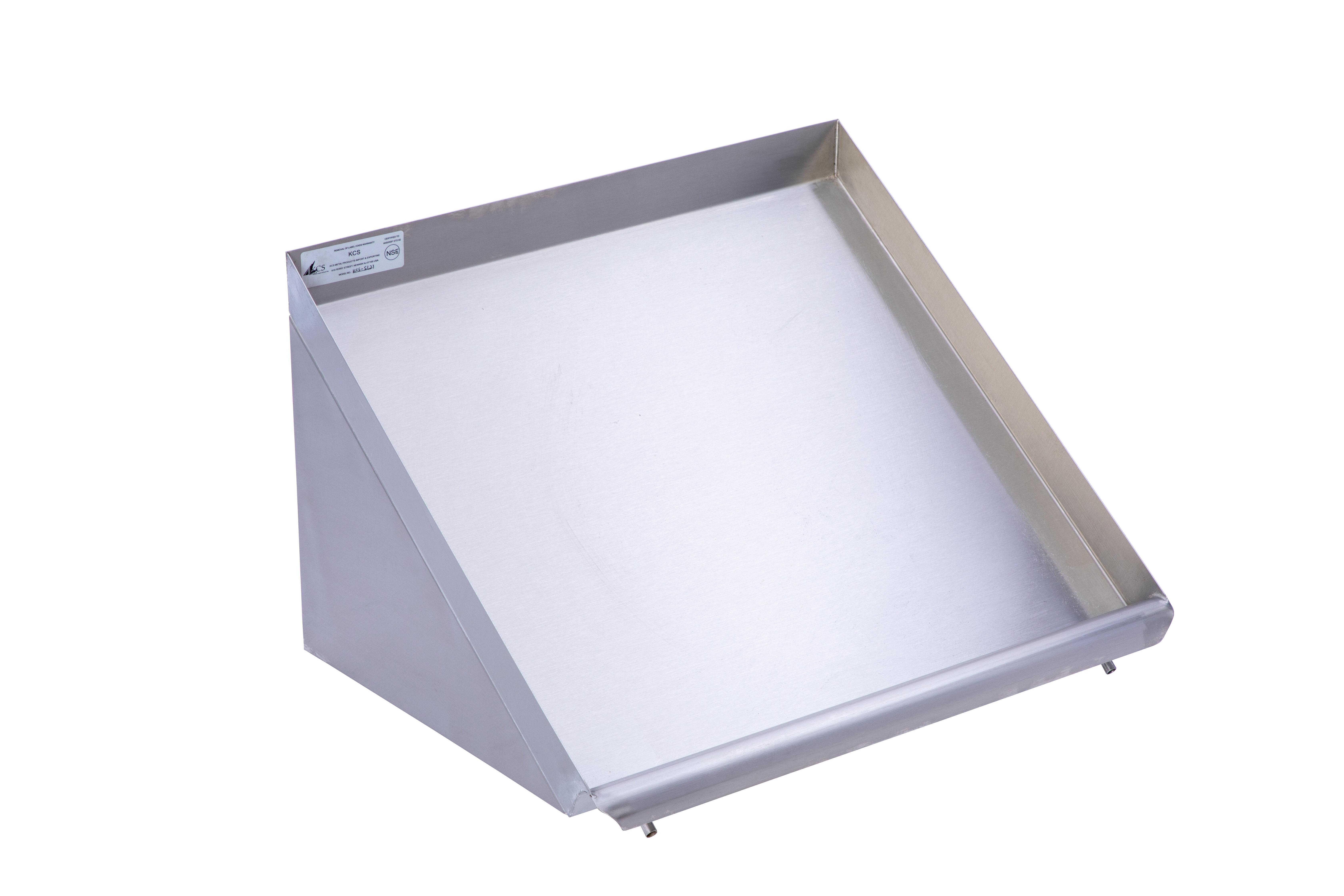 restaurant supply depot stainless steel solid slanted rack shelf wayfair