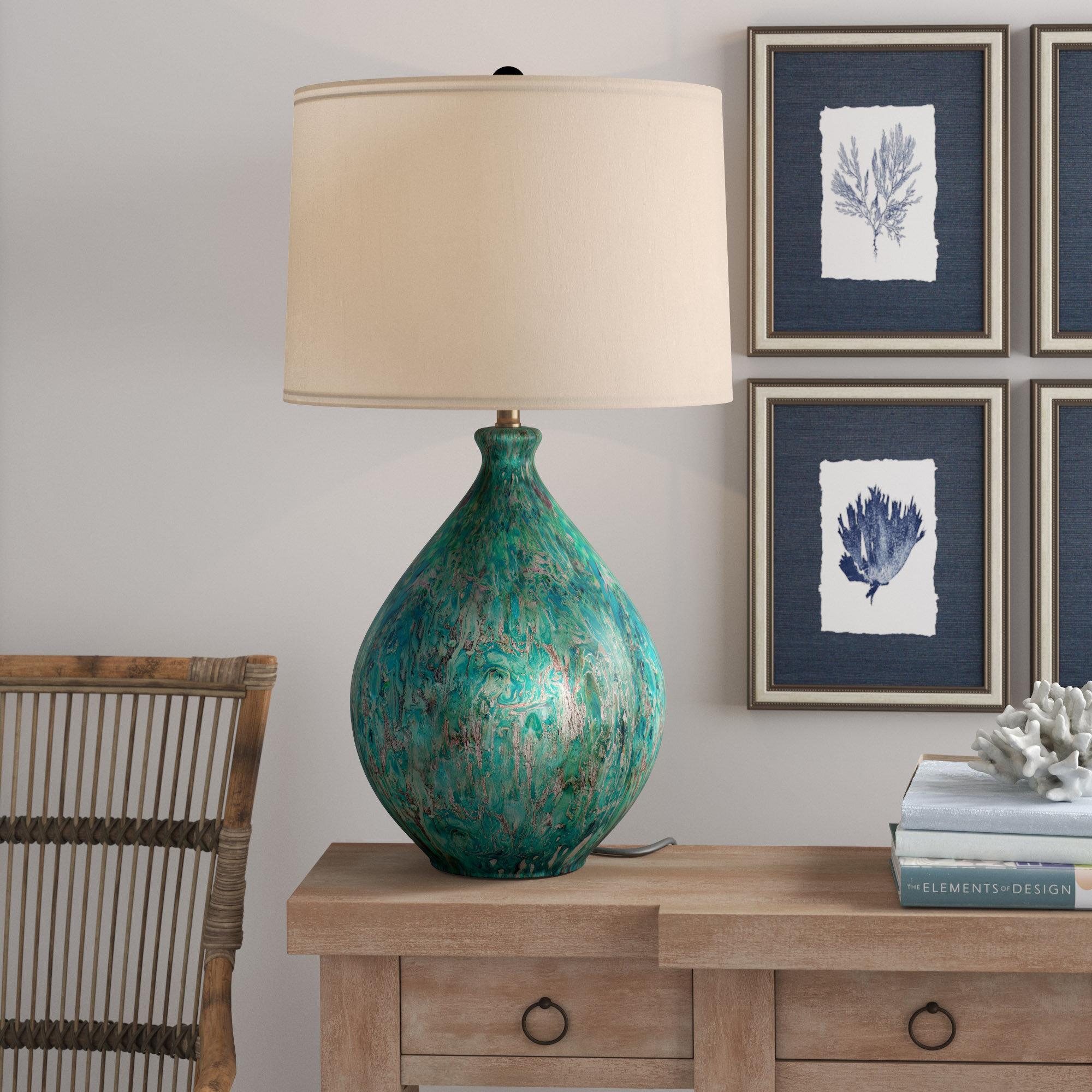 Longshore tides aalin 31 table lamp reviews wayfair