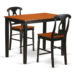 Yarmouth 36 3 Piece Pub Table Set East West Furniture