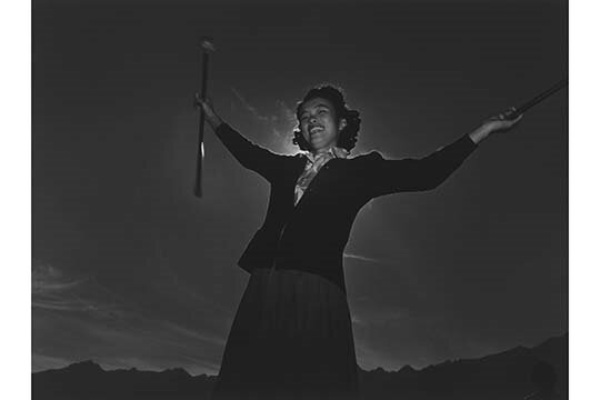 Buyenlarge Baton Practice Florence Kuwata By Ansel Adams Photographic Print Wayfair