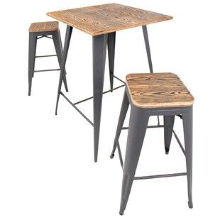 Claremont 3 Piece Pub Table Set