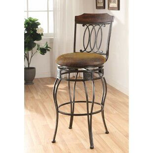 Trejo 29 Swivel Bar Stool (Set of 2) Fleur De Lis Living