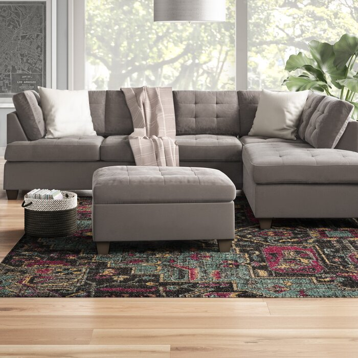 Miraculous Worksop Reversible Sectional With Ottoman Ncnpc Chair Design For Home Ncnpcorg