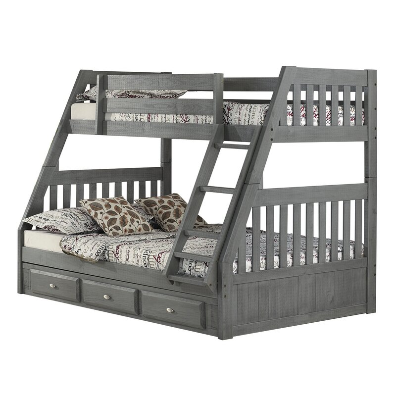 Birch Lane Twin Over Full Bunk Bed With Drawers Wayfair