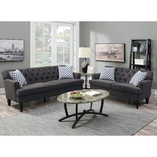 Best Deals Americus 2 Piece Living Room Set by Charlton Home Reviews (2019) & Buyer's Guide