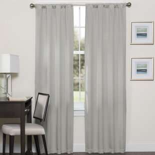 Phoenix Darrell Solid Blackout Thermal Rod Pocket Single Curtain Panel. By Eclipse  Curtains