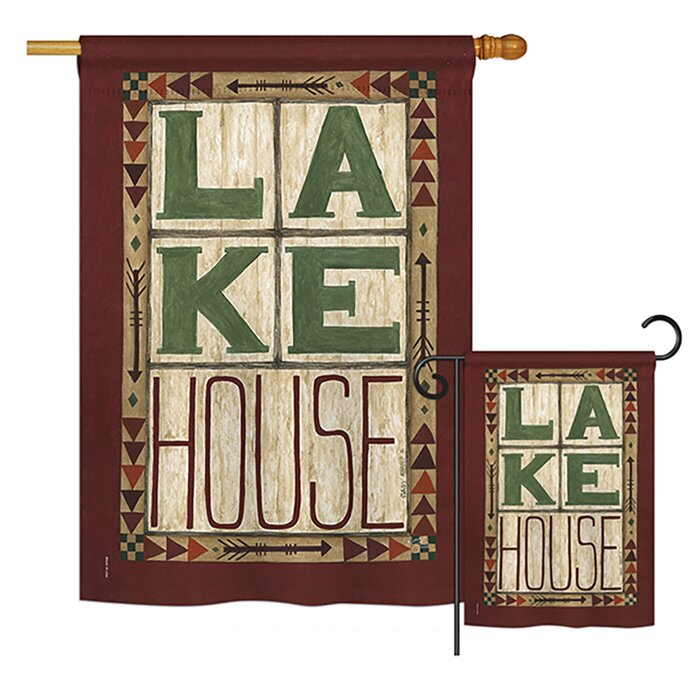 Lake House Nature Outdoor Impressions Vertical 2 Sided Polyester 3 X Ft Flags Set
