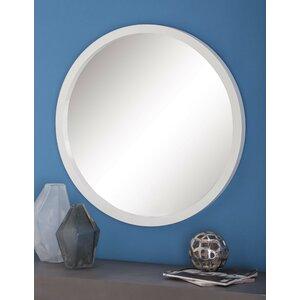 Wood Round Wall Mirror
