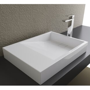 Reviews Rectangular Vessel Bathroom Sink By Cantrio Koncepts