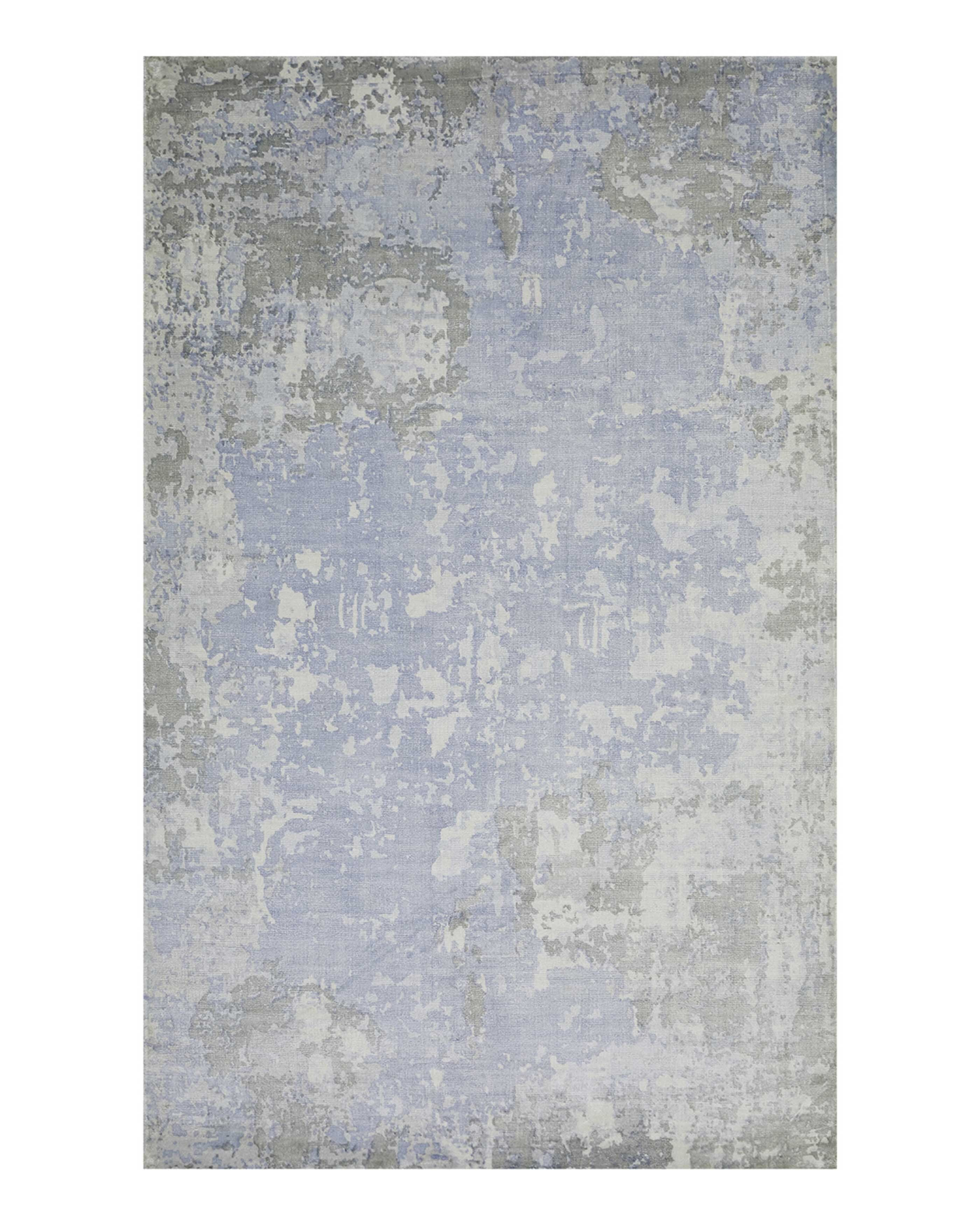 Luxury Gray Silver Silk Rugs Perigold