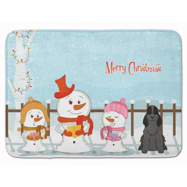 The Holiday Aisle Daniella Merry Christmas Cocker Spaniel Memory Foam Bath Rug Wayfair