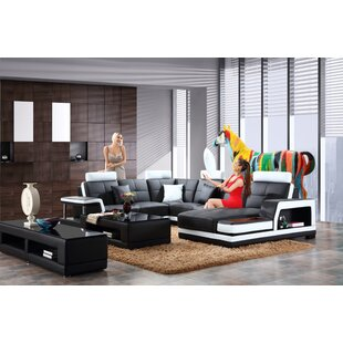 Marylou Leather Modular Sectional