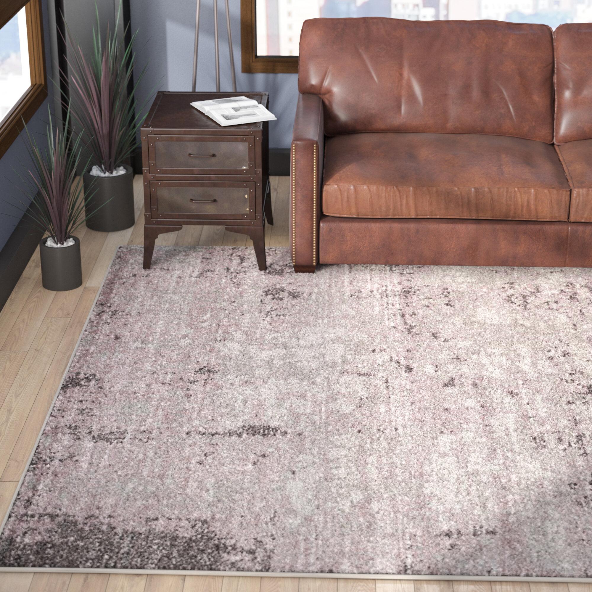 Trent Austin Design Costa Mesa Light Gray/Purple Area Rug U0026 Reviews |  Wayfair