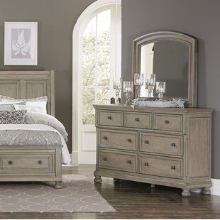 Carleton 7 Drawer Double Dresser with Mirror