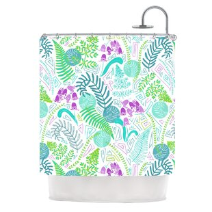 Fern Forest by Anneline Sophia Single Shower Curtain