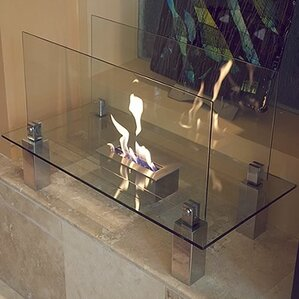 Fiero Freestanding Bio-Ethanol Fireplace by Nu-Flame