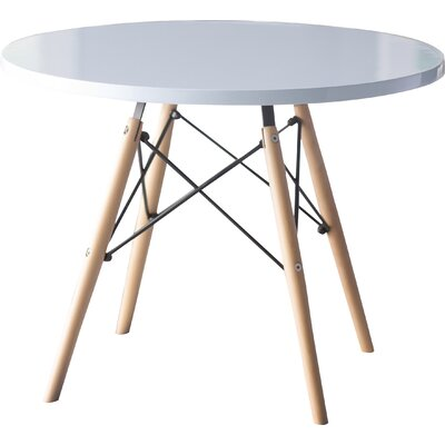 Mack & Milo Hershman Kids Round Writing Table Color: White