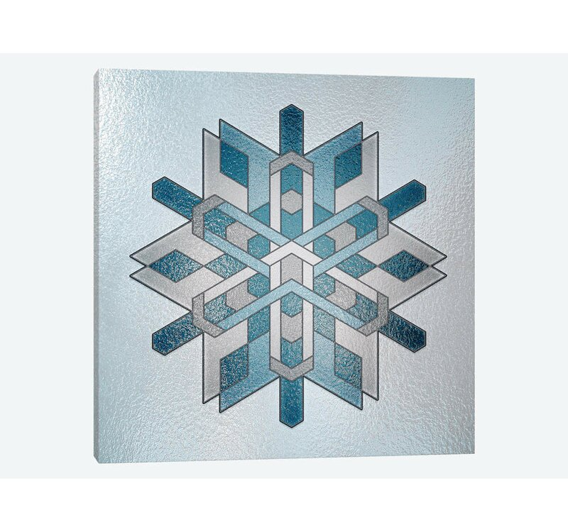 East Urban Home Structural Snowflake By 5by5collective Graphic Art Print On Wrapped Canvas Wayfair