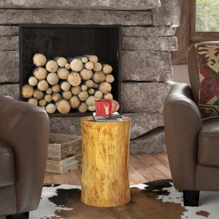 Read Reviews Oak Hill Stump End Table By Loon Peak
