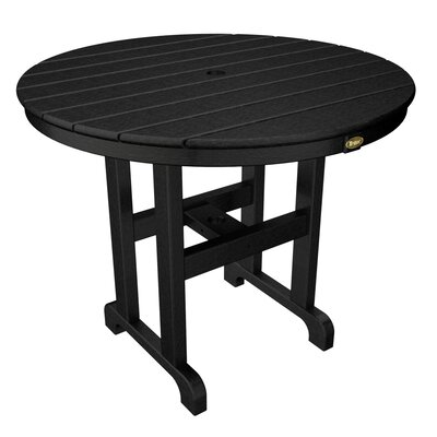"""Trex Outdoor Monterey Bay Dining Table Table Size: 36"""", Finish: Charcoal Black"""