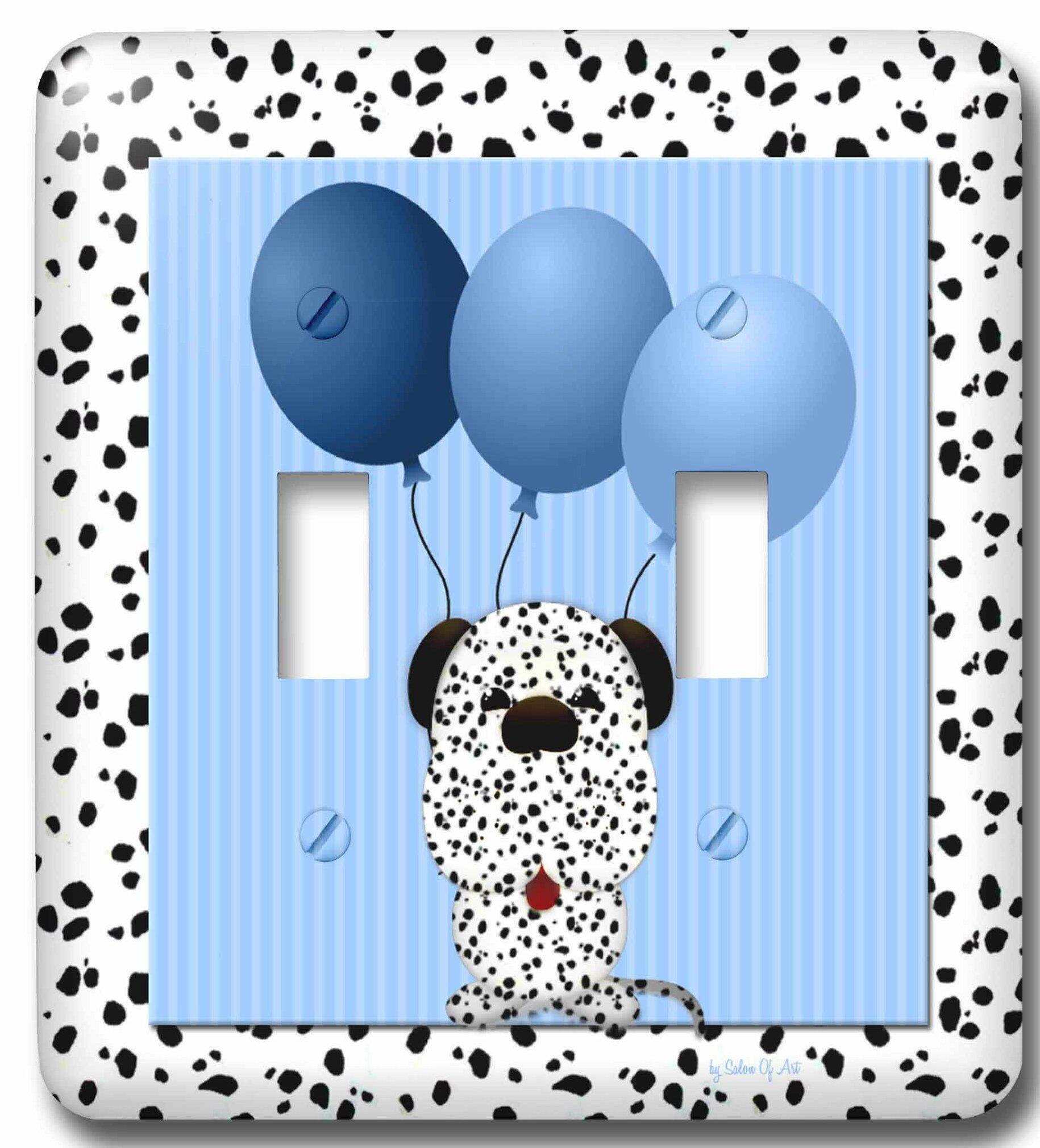 3drose Dalmatian Print 2 Gang Toggle Light Switch Wall Plate Wayfair