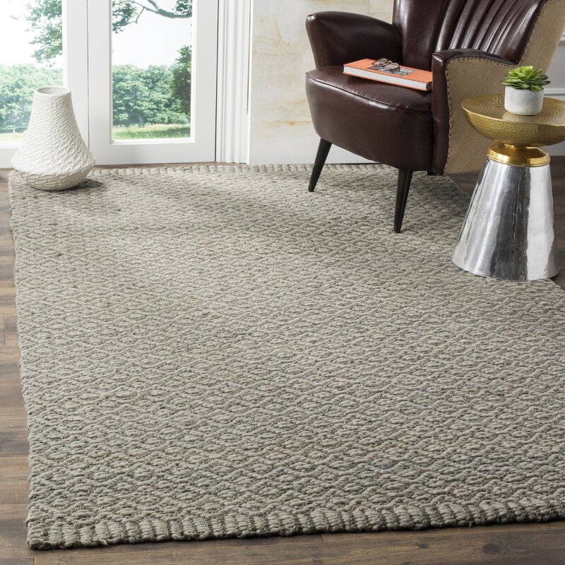 Gracie Oaks Leesport Wool Jute Sisal Gray Taupe Area Rug Reviews Wayfair