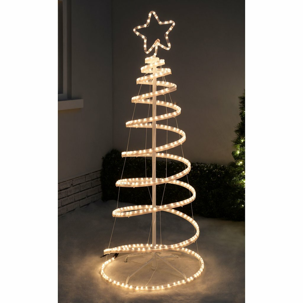 The seasonal aisle christmas flashing 3d spiral tree rope lighted the seasonal aisle christmas flashing 3d spiral tree rope lighted display wayfair mozeypictures Image collections