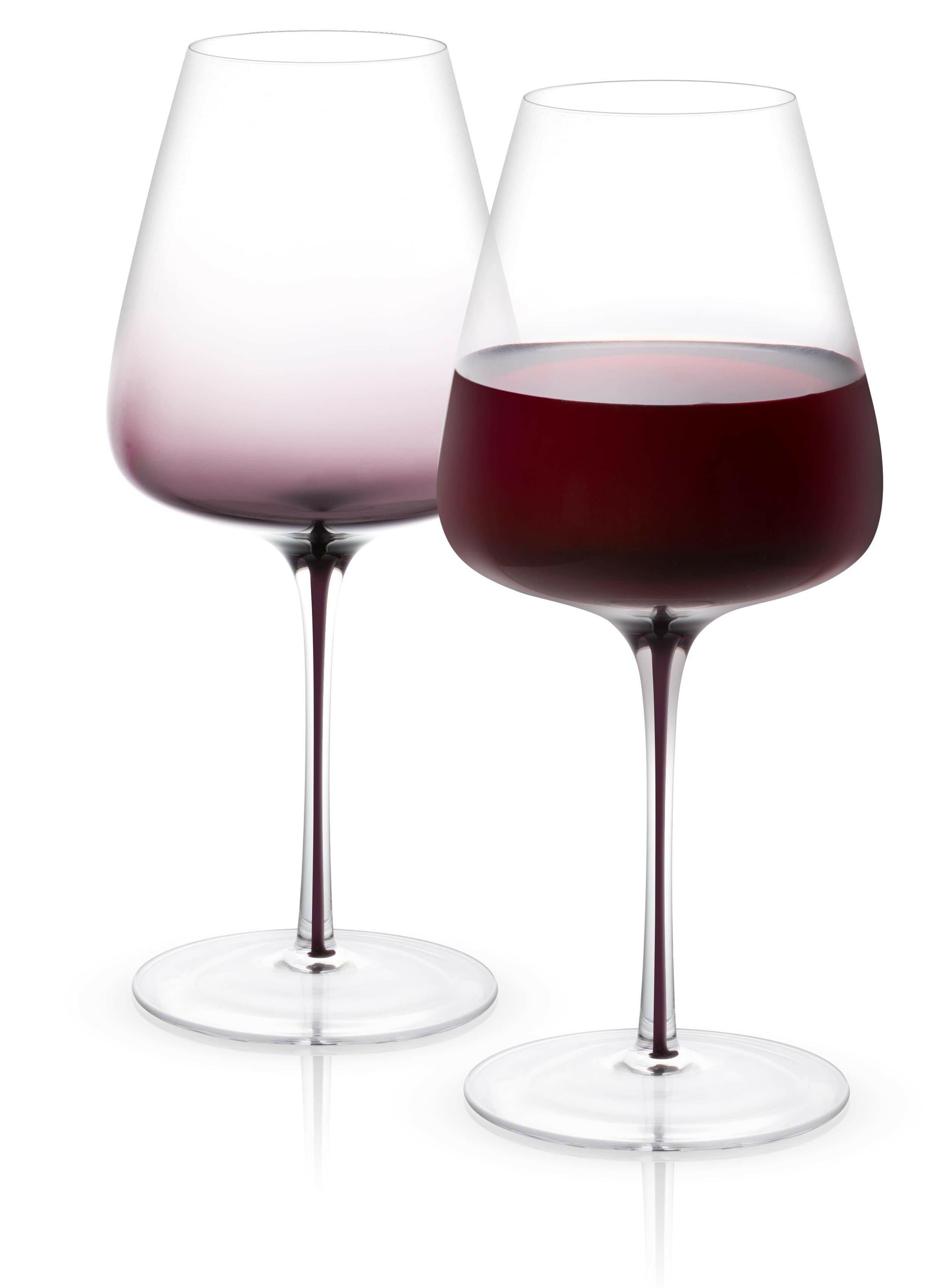 Joyjolt Black Swan Crystal Stemmed Wine Glass Wayfair