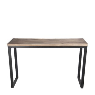Gravette Metal Reclaimed Wood Console Table
