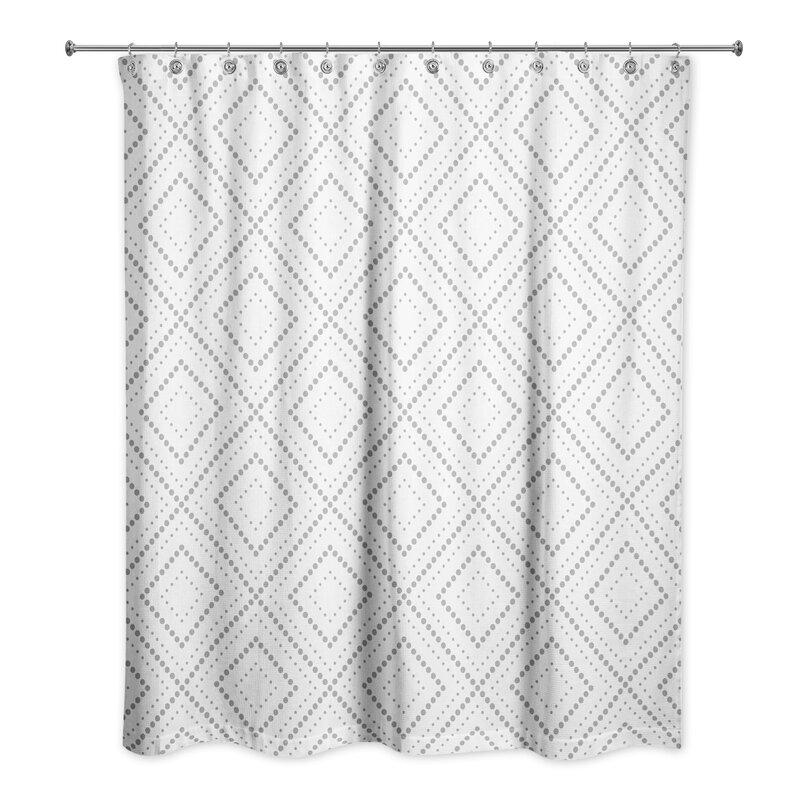 Foundry Select Tremblay Geometric Single Shower Curtain Wayfair