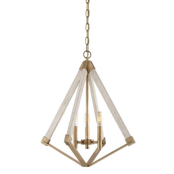 Union Rustic Loper 3 Light Candle Style Geometric Chandelier Wayfair