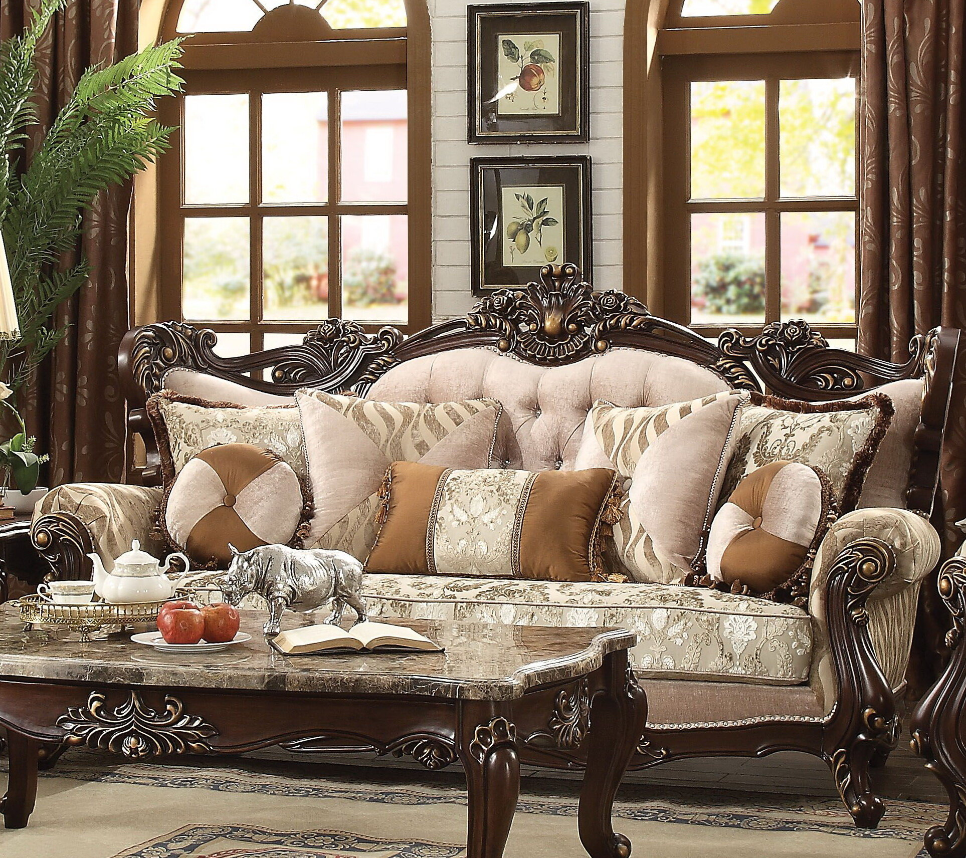 Astoria Grand Leon 90 Rolled Arm Sofa