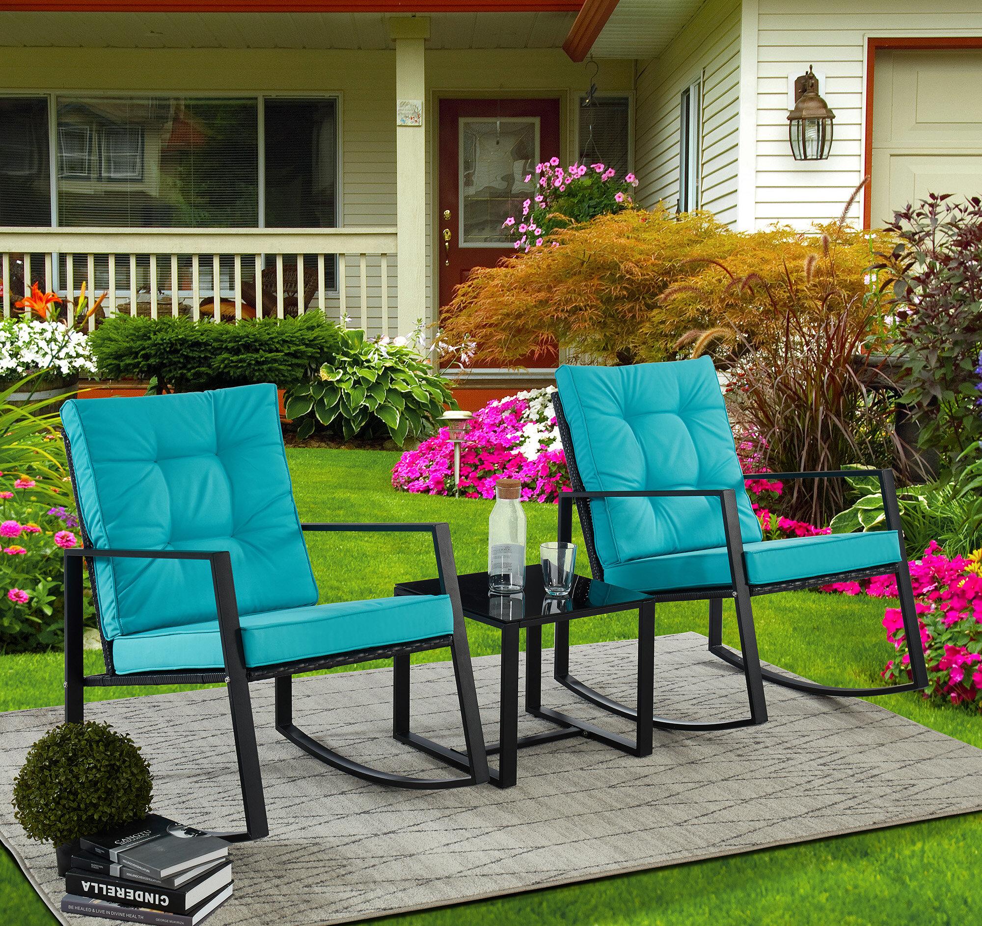 Latitude Run Antria 3 Piece Seating Group With Cushions Reviews Wayfair
