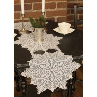 Silver Snowflake Table Runner