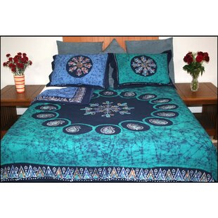Brushwood Mulitbatik Reversible Block Printed 3 Piece Duvet Cover Set