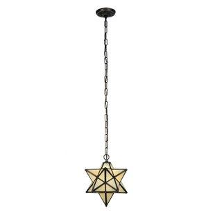 Moravian star ceiling light wayfair moravian star 1 light geometric pendant aloadofball Gallery