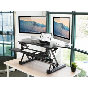 Juniper Electric Standing Desk Converter by Symple Stuff Find
