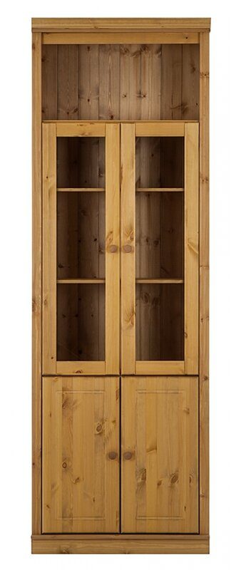 Hazelwood Home Annabelle Bookcase Glass Door Wayfair