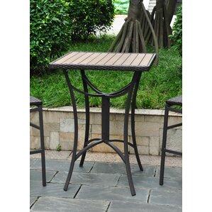 Katzer Wicker Resin/Aluminum Patio Table