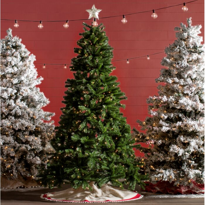 Camdon Fir 6.5\' Green Fir trees Slim Artificial Christmas Tree with 550