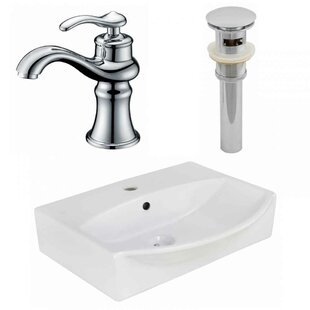Great Price Ceramic 19.5 Bathroom Sink with Faucet and Overflow By Royal Purple Bath Kitchen