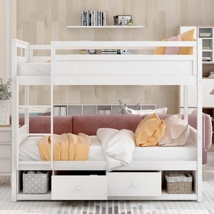 Admer Twin Over Twin Bunk Bed with 2 Drawers by Harriet Bee