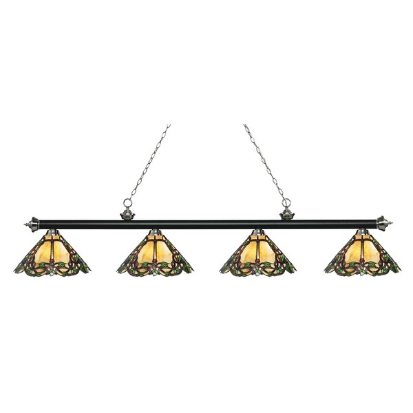 Fleur De Lis Living Billington 4 Light Pool Table Linear Pendant Wayfair