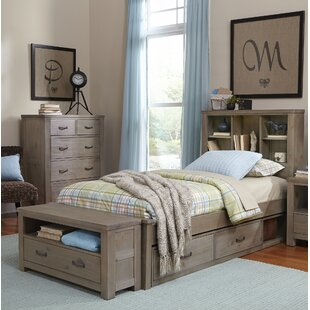 Allan Panel Bed with Bookcase Storage By Viv + Rae