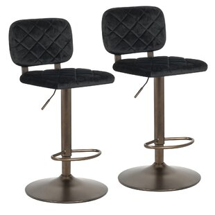 Bright Adjustable Height Swivel Bar Stool (Set of 2) Mercer41