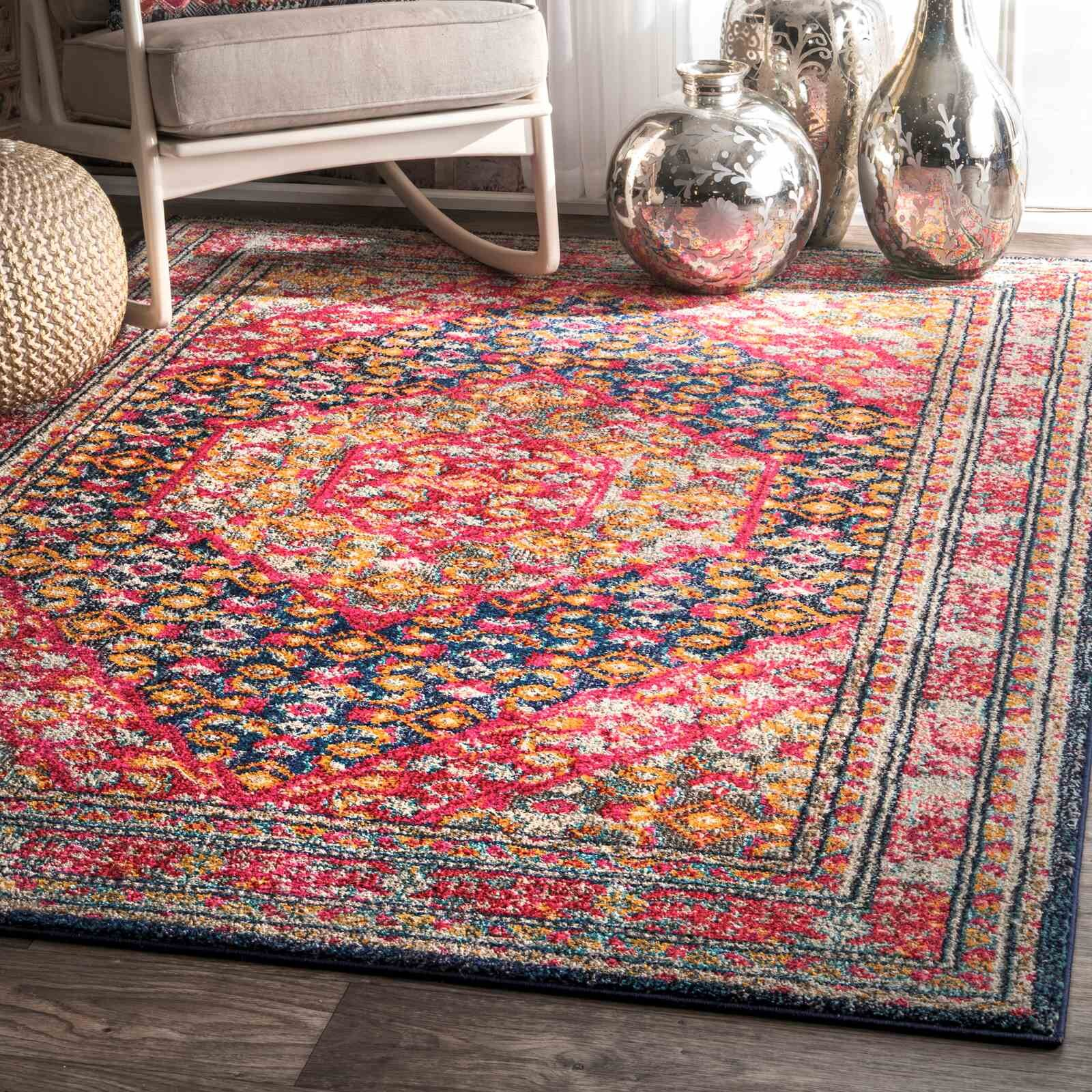 World Menagerie Barnes Pink Area Rug Wayfair